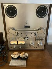 AKAI GX-635D  4 Track Stereo Reel To Reel Tape Recorder with box, Remote & Hubs