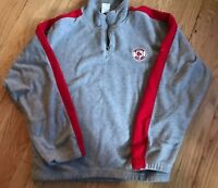 Boston Red Sox Reebok Fleece 1/4 Zip Pullover Jacket Mens Medium MLB
