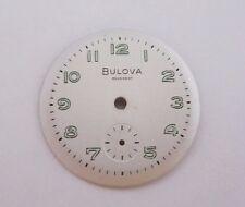 VINTAGE MEN'S BULOVA ROUND WRIST WATCH DIAL FACE  26.0 mm NOS sub second