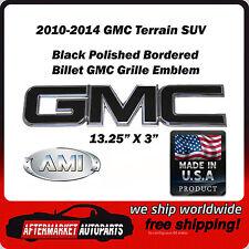 2010-2014 GMC Terrain SUV Black Polished Border Front Grille Emblem AMI 96500KP