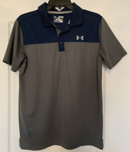 Under Armour Blue/Gray Youth Polo Shirt Size XL