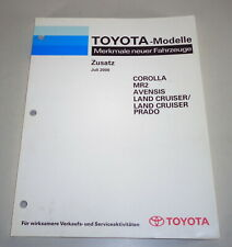 Caractéristiques Neuf Véhicules Toyota Corolla E12/MR2 W3 / Svensis T22 Etc 7 /