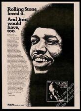 1974 Jimi Hendrix portrait Gil Evans album release vintage print ad