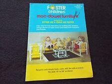 Foster Children Mac-Dowel Doll Furniture Making Esther Lee & Eddie Lee Foster
