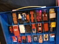 Hot Wheels Matchbox Etc Vintage Diecast Car Lot With The Case. LIST IN PICTURES*
