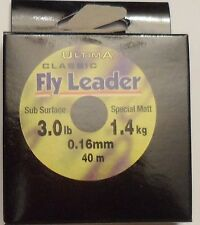 Ultima Classic Fly Leader 3 lb / 1.4 kg 0.16 mm 40m