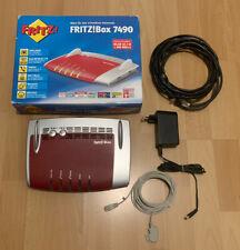 AVM FritzBox 7490 ADSL+ VDSL ISDN VoIP S0 WLAN AC Mesh Vectoring WPA2 WPA3 OVP