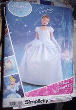 NEW UNCUT Simplicity Pattern Disney Princess Cinderella Size 7-14 Girl #8490 K5