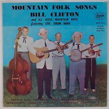 BILL CLIFTON & DIXIE MOUNTAIN BOYS: Mountain Folk Songs STARDAY Bluegrass LP