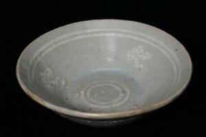 Korean Antique Joseon periodn Inlay celadon plate Ceramic Mishima RVCP43