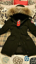 "2017 ""LATEST CONCEPT"" RED LABEL BLACK CANADA GOOSE TRILLIUM ""MED"" PARKA JACKET"