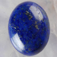 LARGE 14x10mm OVAL CABOCHON-CUT ROYAL-BLUE NATURAL LAPIS LAZULI GEMSTONE