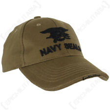 Green Navy Seals Baseball Cap - Olive Drab US Logo Emblem Hat USA
