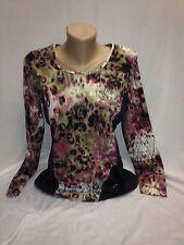 Damen Pullover Oberteil Langarmshirt Gr. XL von Lea H. toller Print