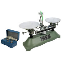 100 Gram Table Mechanical Balance Scale with 5 Weights School Physics Teaching