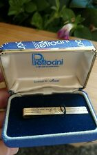 Vintage Pietrocini By Anson Gold Tone Straight Tie Clip engraved estate find