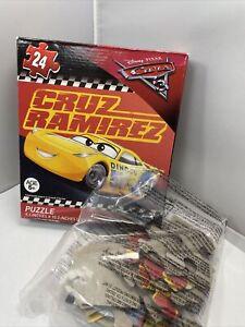 """Disney Pixar Cars 24 Pc 9.1""""x10.3""""kids Puzzle Cruz Ramirez"""