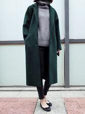 Hot Womens Trench Overcoat Wool Blend Long Coat Parka Jacket Long Parkas Outwear