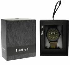 Firetrap Military Watch Mens Army Green Khaki in Gift Box Present R272