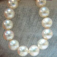 GIA 8.5mm NATURAL AKOYA WHITE PEARLS NECKLACE 14KT GOLD BALL CLASP 18inch $9500
