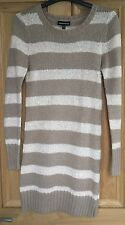 Cream and Beige Warehouse Jumper Dress Size 8