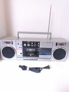 Toshiba RT-SX2 Boombox AM FM Radio Cassette Player Detachable Speakers *READ*