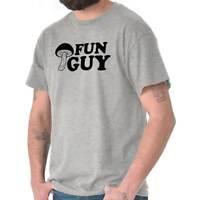 Fun Guy Fungi Mushroom Funny Dad Joke Pun Mens Short Sleeve Crewneck Tee