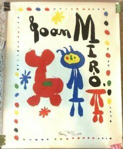 Mid Century Original Joan Miro Poster 1950's Pari Lithograph MID CENTURY 17/4/55