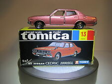 Tomy Tomica No13 Nissan Cedric 2800 SGL, 1:65 Die cast, Japan made Vintage Mint!