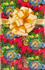 "Christmas Wrapping Paper Gift Wrap 24"" x 10' Roll Nativity Holy Family Ornaments"