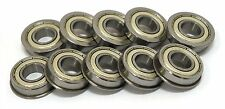 10 pcs of F623ZZ Flanged Ball Bearings 3mm x 10mm x 4mm