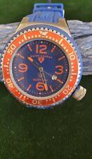 Swiss Legend Men's Neptune Watch Blue Dial Red Bezel Silicone
