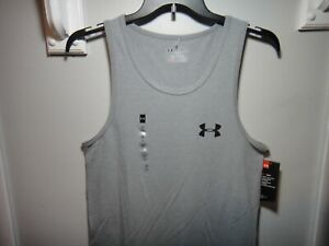 Under Armour Men Heatgear Loose Fit Tank Top Shirt Color Gray Size Small