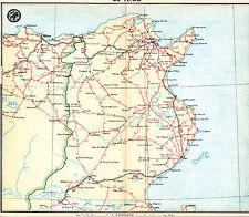 Tunisie Tunis Gabès Sousse 1930 carte routière orig. Djerba Tozeur Gafsa Tabarca