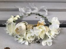 COMMUNION Rustic Flower Girl Wreath Halo Circlet Garland Headband Crown Tiara