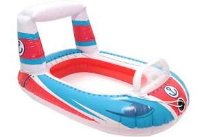 BESTWAY Kinder Schlauchboot weiss rot blau aufblasbar 99 x 66 cm Boot Gummiboot