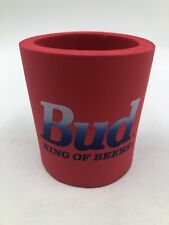 Budweiser Bud Foam Koolie Can Holder Koozie Coozie Vtg 80s 90s Beer Soda