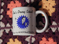 Dad's Driving School - MUG-CUP) RUSS BERRIE) Free Ship.) 14 Day Return)