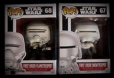 Star Wars - First Order Flametrooper + Snowtrooper - 2 Vinyl Figuren - Funko Pop