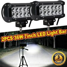 36W 2×7inch CREE LED Car Work Light Bar Flood Beam SUV Boat Driving Offroad Lamp