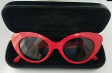 Women's CRAP The Wild Gift Red Cat Eye Sunglasses with Case