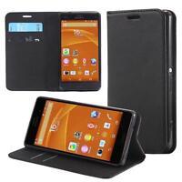 Custodia per Sony Xperia Z3 compact mini Cover Case Portafoglio Wallet Etui Nero