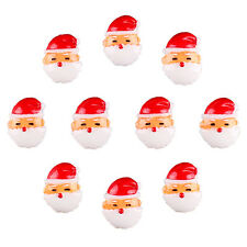 10pcs Resin Christmas Santa Flatback Hair Bow Center DIY Crafts Decor Prop