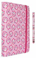 My Doodles Rosa Gufo Universale Custodia / Cover Folio & Stilo For 6/7/8 ""