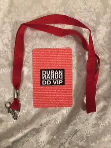 Duran Duran Logo 2019 Tour VIP Laminate Pass Badge Brand New Free Shipping!