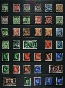 MA SPANISH CURRENCY, KEVII - QEII, a collection of 62 stamps, MM, MNG & used.