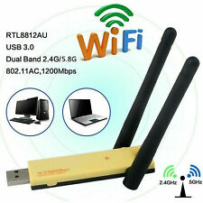 USB 3.0 1200Mbps AC1200 Dual Band 5GHz Wireless WiFi Adapter Antennen