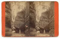 Rock City, Stereoview Photo by Detlor & Waddell, Bradford, P.A.