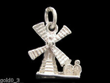 Windmill  Charm Sterling silver 925 charmmakers 3D