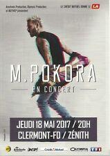 FLYER PLV - MAT M. POKORA EN CONCERT LIVE 2017 ZENITH AUVERGNE CLERMONT FERRAND